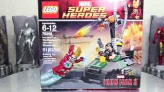 Iron Man 3 LEGO Marvel Super Heroes Iron Man VS The Mandarin Ultimate Showdown Set Toy Review