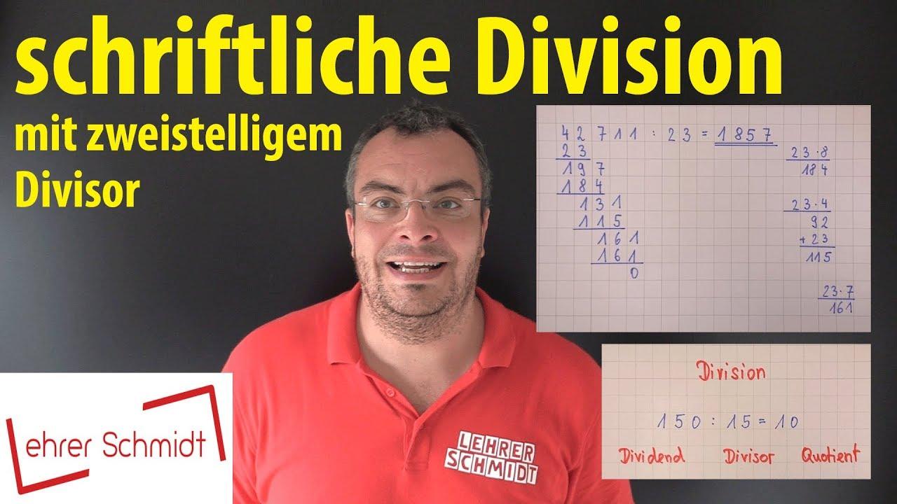 Download schriftliche Division mit zweistelligem Divisor   Lehrerschmidt - einfach erklärt!