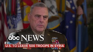 Over 500 US troops expected to remain in Syria: Joint Chiefs Chairman Gen. Mark Milley
