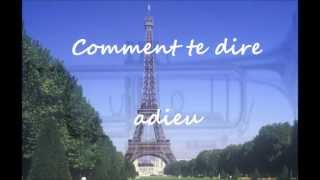 Comment te dire adieu - Instrumental version