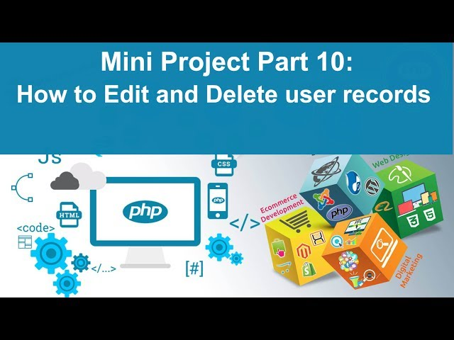 php tutorial in hindi - Mini Project Part 10: How to Edit and Delete user details from Admin Panel