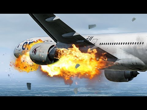 Engine On Fire | Pilots Have To Perform An Emergency Landing | Boeing 777 Emergency | 4K