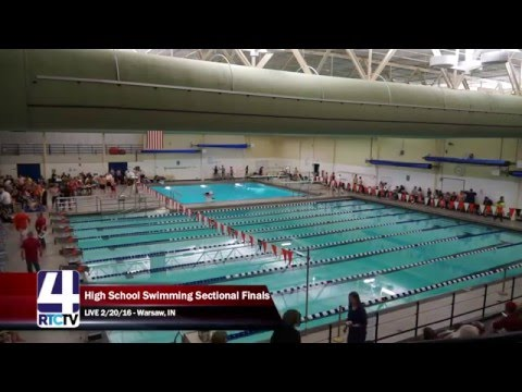 RHS Boys Swimming Sectional LIVE - Warsaw, IN 2-20-16