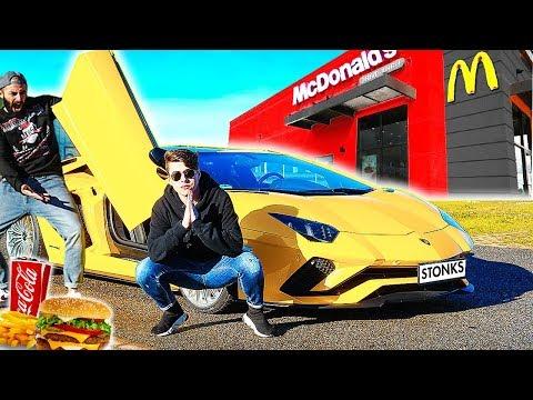 McDONALD'S in LAMBORGHINI al McDrive 🍔 *Aventador S* 740Cv w/ DANKO