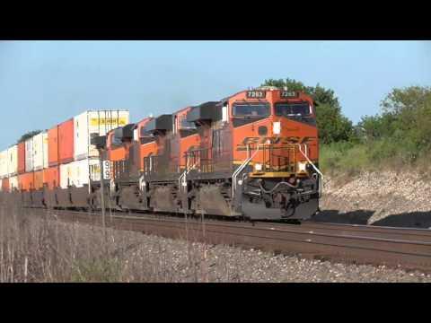 2015-08-12 BNSF Trains East of Neosho Rapids KS