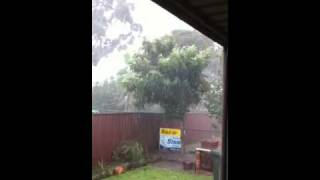 Heavy rain in guildford australia on 30/3/2011