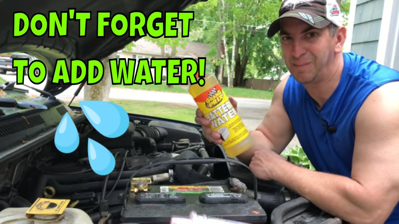 what kind of water to put in car battery