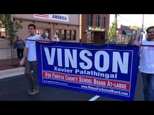 Herndon Homecoming Parade -vinson for school board