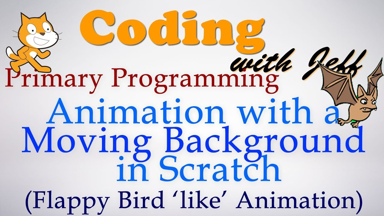 Primary Programming- Moving Background Flappy Bird Animation Scratch  Tutorial