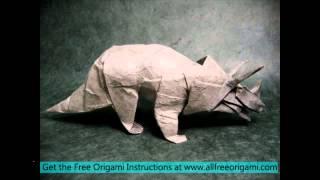Origami Dinosaur Raptor