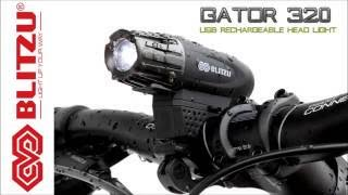 How to use the Blitzu Gator 320 USB Rechargeable LED Bicycle/ Bike Head Light