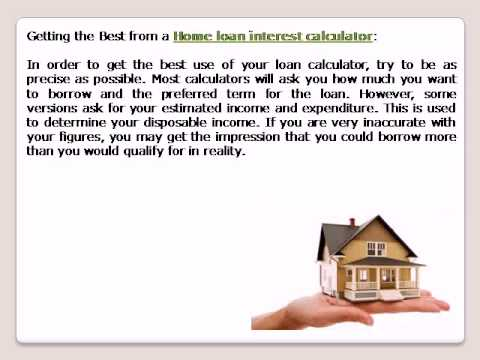 Home Loan Interest Calculator  Youtube