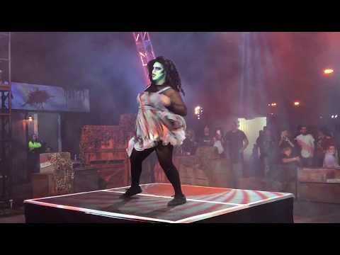 """Queen Mary's Dark Harbor 2017 OCEANA Performing """"WORK"""" MegaMix"""