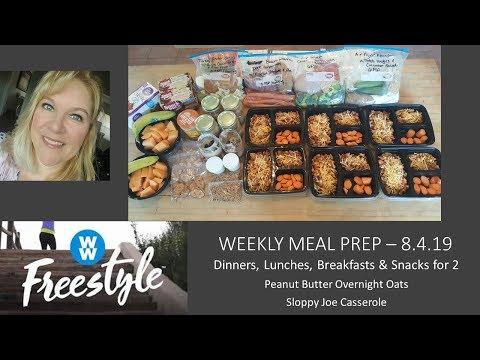 MEAL PREP TO LOSE WEIGHT | PB OVERNIGHT OATS | SLOPPY JOE CASSEROLE | WW FREESTYLE