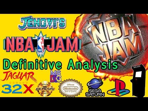 NBA Jam The Definitive Analysis   32X Jaguar Genesis Arcade Saturn PSX SNES DOS Comparison.