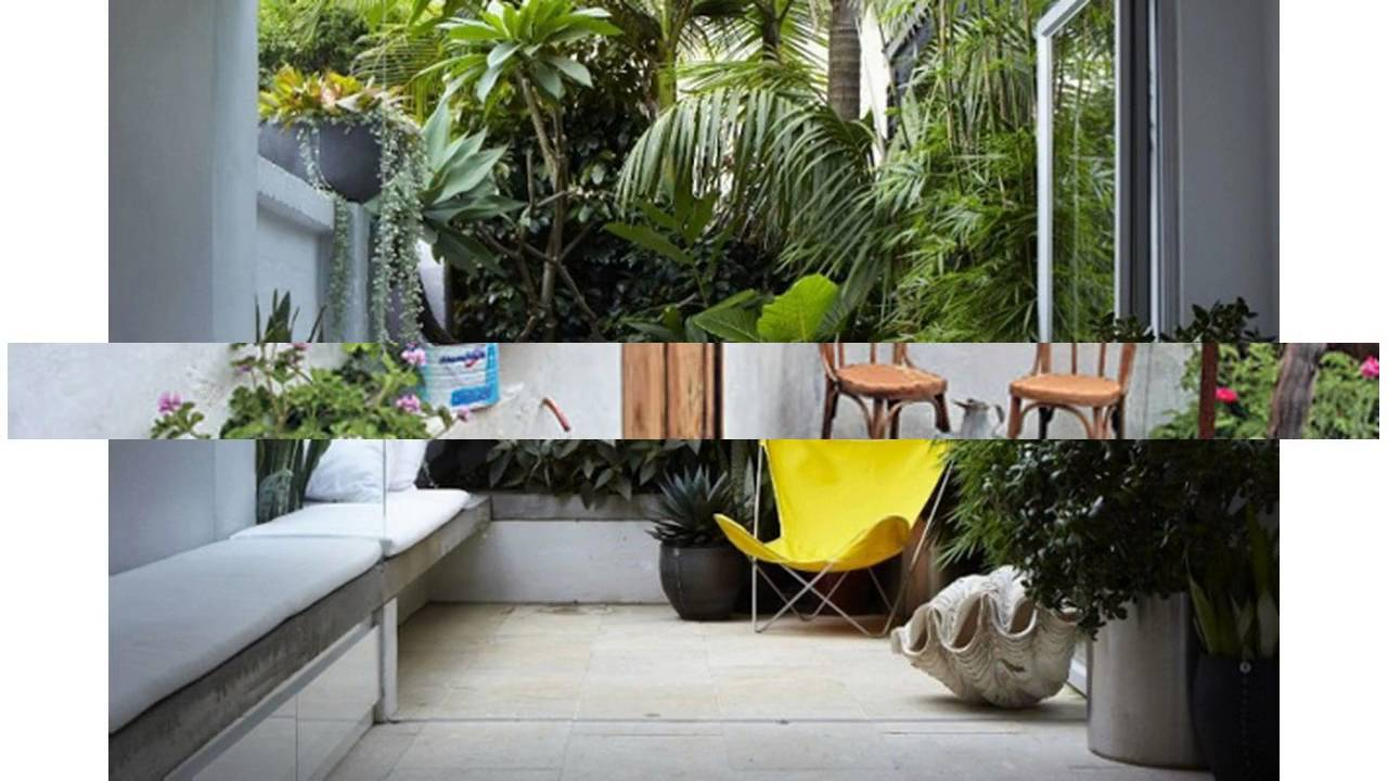 Small courtyard garden design ideas - YouTube