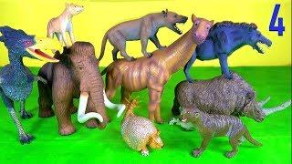 Learn PREHISTORIC ANIMALS Woolly Mammoth Rhino Marsupial Lion