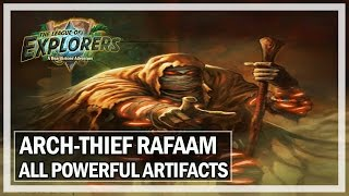 Hearthstone: Arch Thief Rafaam - All Powerful Artifacts Effects Gameplay