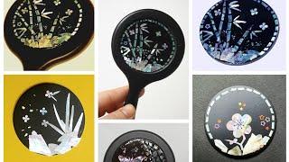 자개거울(부스기와 라인넣어 디자인차기)