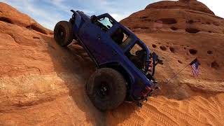 The Ledges.  Amazing Ford Broncos vs Jeep Wranglers Off-road.   Best 4x4 Trails in Sand Hollow.