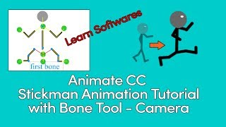 Animate CC Stickman Tutorial de Animación con la Herramienta Hueso - Cámara - Character Rigging