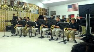 Benicia Middle School Jazz Band at Fairfield, CA 2012.