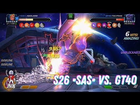 S26. •SAS• vs. GT40. Human Torch/Archangel/Falcon. Path 2/9.  