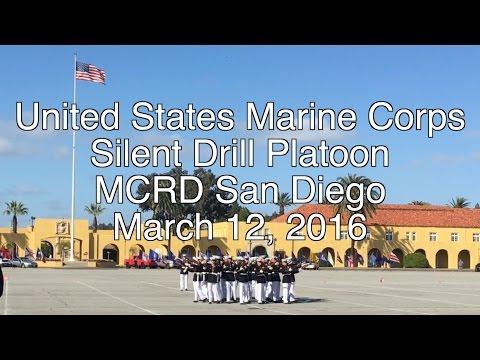 USMC Silent Drill Platoon MCRD San Diego 3/12/2016