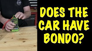 How To Find Bondo on a Car