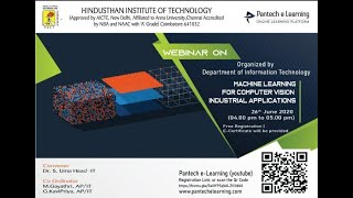 Machine Learning For Computer Vision Industrial Application   Hindustan Inst of tech   Live Webinar