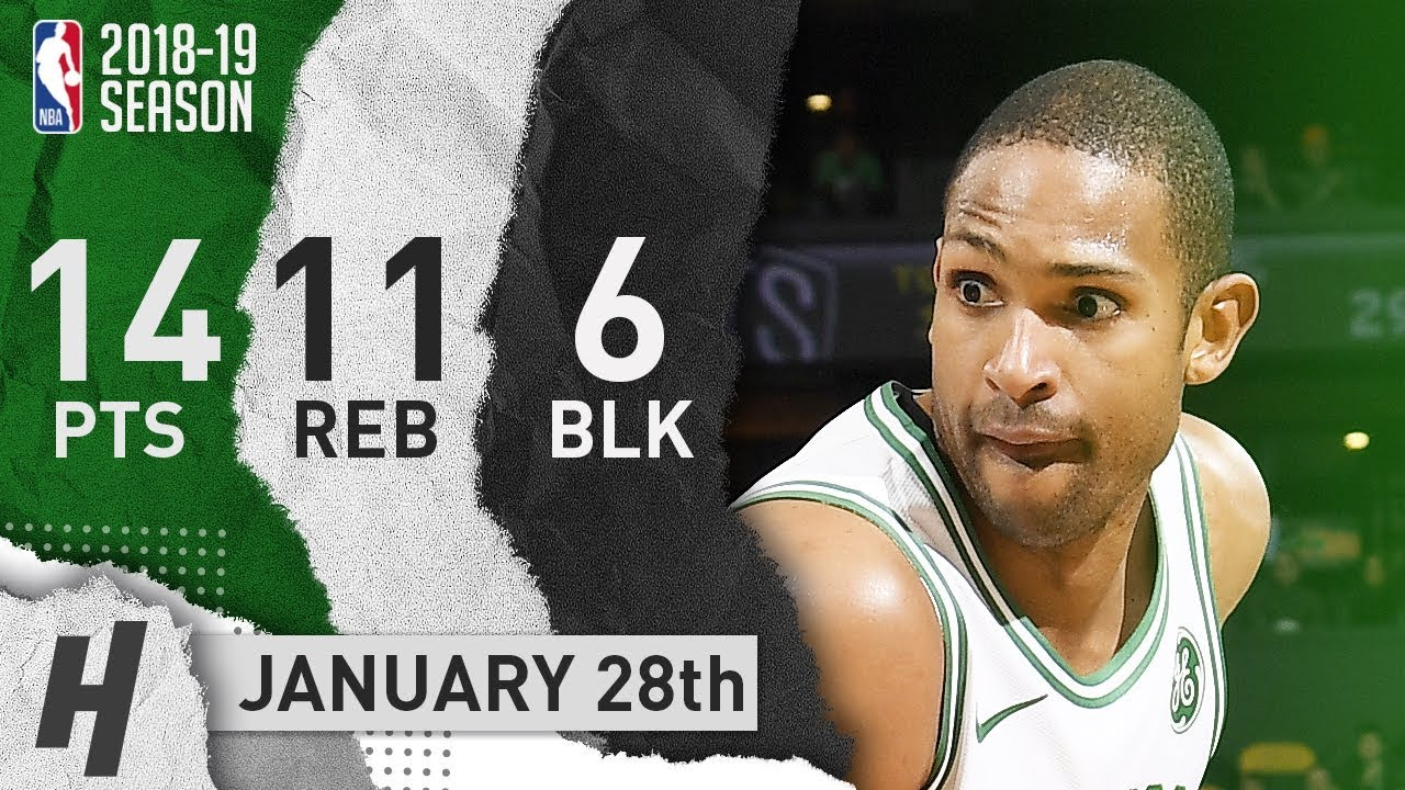 Al Horford Full Highlights Celtics vs Nets 2019.01.28 - 14 Pts, 11 Reb, 5 Ast, 6 Blocks!