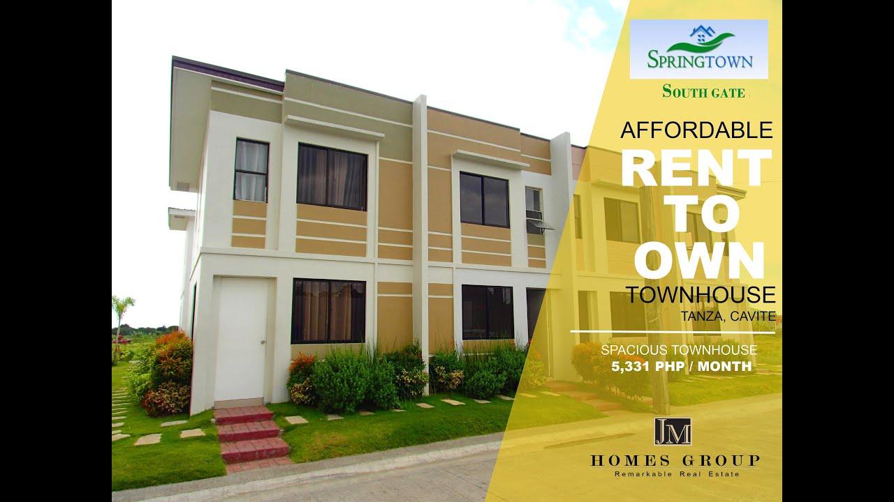 Rent to Own House Murang Pabahay sa Cavite Spring Town Villas