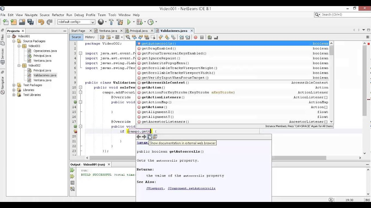 Validaciones java mouselistener keylistener focuslistener validaciones java mouselistener keylistener focuslistener parte 2 baditri Image collections