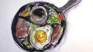 Как нарисовать ЗАВТРАК / Видео урок рисования для детей