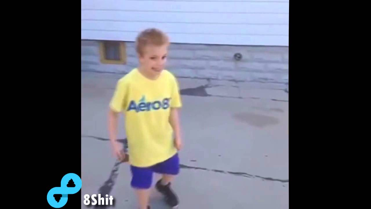 Kid Gets Hit With Basketball