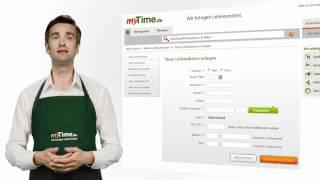 myTime.de online Lebensmittel Persönliche Daten