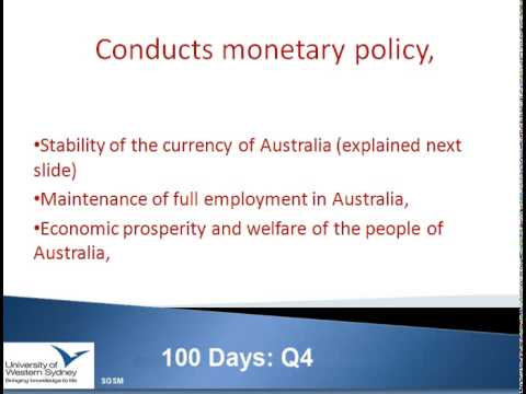 Role of RBA, CFR, BCBS, APRA and Finance Stakeholders