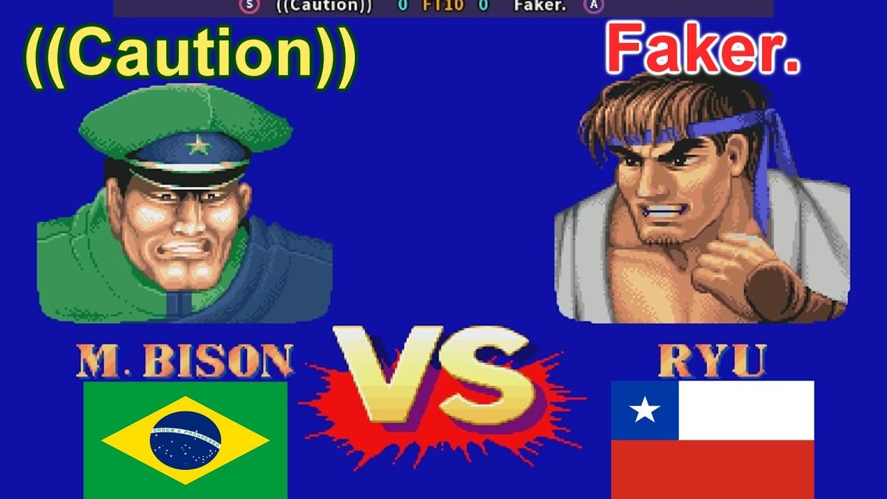 Street Fighter II': Champion Edition - ((Caution)) vs Faker. FT10