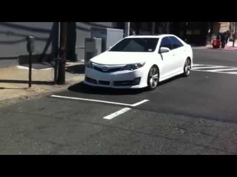 Lowered 2012 Toyota Camry on highlander wheels - YouTube