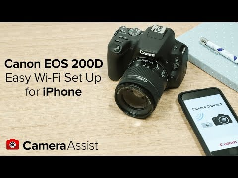 Connect your Canon EOS 200D to your iPhone via Wi-Fi