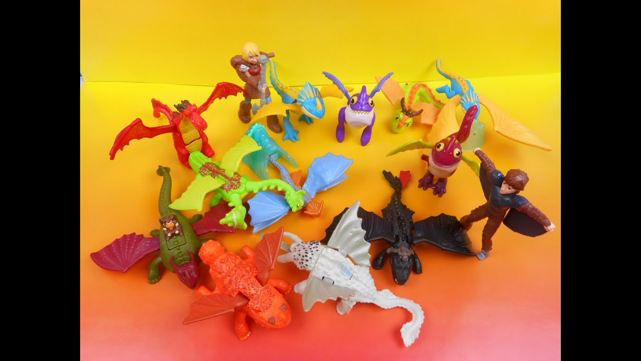 2014 Mcdonald S How To Train Your Dragon 2 Happy Meal Set Of 14 Youtube