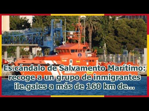 Es.cándalo de Salvamento Marítimo: recoge a un grupo de inmigrantes ile.gales a más de 160 km de...