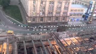 Провал Грунта На Балтийской Ул. Москва 02.06.2011