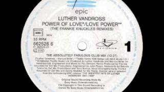 Luther Vandross   Power Of Love Love Power The Absolutely Fabulous Club Mix Epic   Sony Music Entertainment Inc  1995