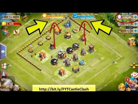 Astuces Castle Clash [FR] - 9.999.999 Gemmes, Mana Et Or Illimités [2017] - HD