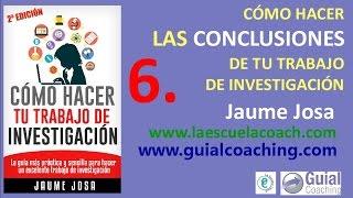 6. Discusión, conclusiones y resultados de tu trabajo de investigación