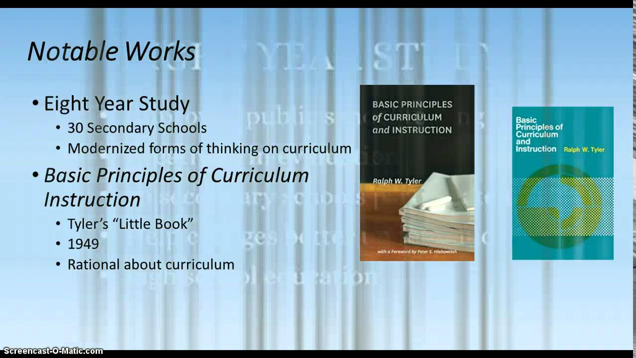 ralph tyler curriculum theory