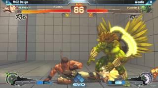 [EVO 2012 SSFIV AE] MCZ Daigo (Ryu) vs Woolie (Blanka)