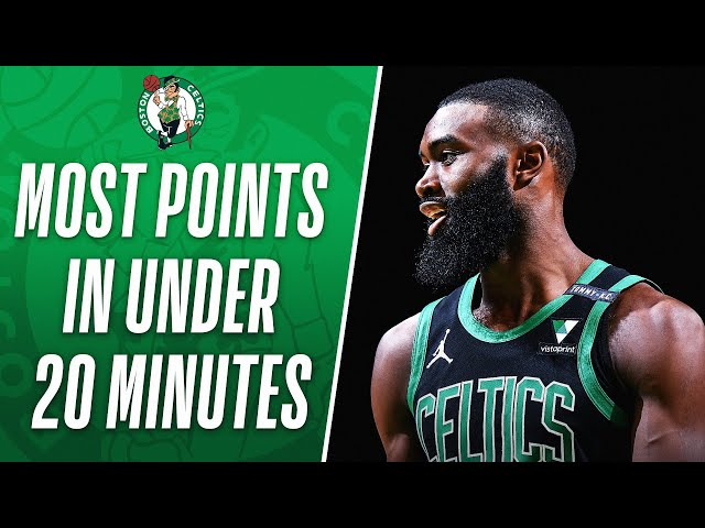 Jaylen Brown Scores The MOST POINTS In Under 20 minutes Played During The Shot Clock Era!