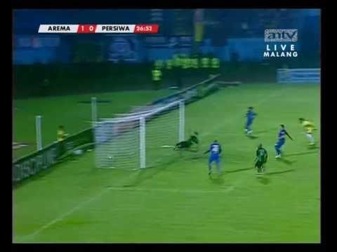 Arema Indonesia vs Persiwa Wamena (Sunarto Goal) ISL 2013 [18052013]